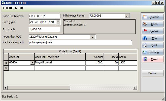 Kredit Memo Penjualan Simak Accounting